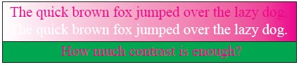 Diferentes textos con color de fondo